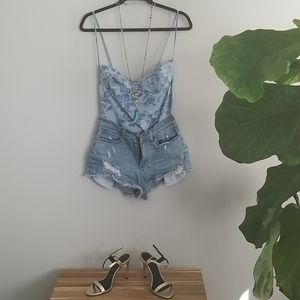 New w/out Tags Floral Print Body Suit